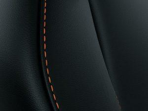 Leather With Orange Stitches